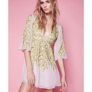 Free People Songbird Embellished Dress NWT XS